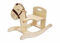 #413 - Wood Rocking Horse